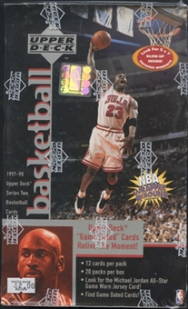 1997/98 Upper Deck Series 2 Basketball Prepriced Box