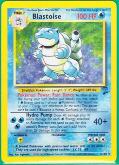 Pokemon Base Set 2 Single Blastoise 2/130