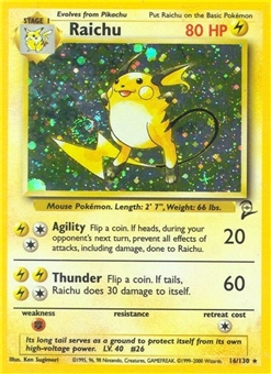 Pokemon Base Set 2 Single Raichu 16/130