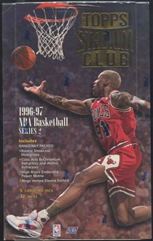 1996/97 Topps Stadium Club Series 2 Basketball 32-Pack Box
