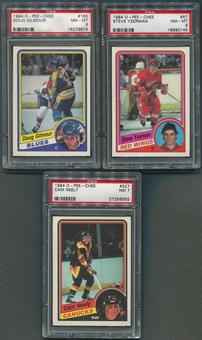 1984/85 O-Pee-Chee Hockey Partial Set (NM-MT) With 3 Graded PSA Cards
