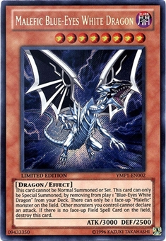 Yu-Gi-Oh Bonds Beyond Time Single Malefic Blue-Eyes White Dragon Secret Rare YMP1