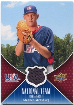 2009 Upper Deck USA National Team Jerseys #SS Stephen Strasburg
