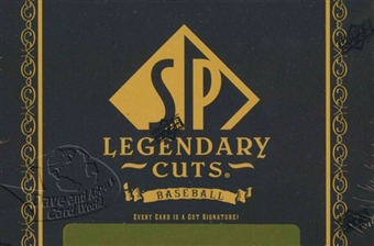 2011 Upper Deck SP Legendary Cuts Baseball Hobby Box