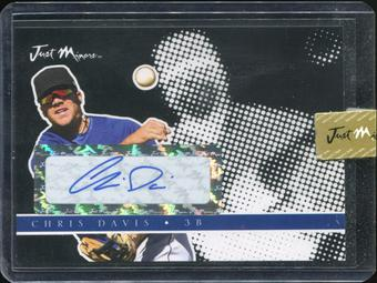 2008 Just Autographs Preview Signatures Autograph Black #JAPR-04 Chris Davis 8/25