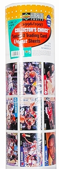1996/97 Upper Deck Collector's Choice Series 2 Basketball Uncut Sheets - KOBE RC!