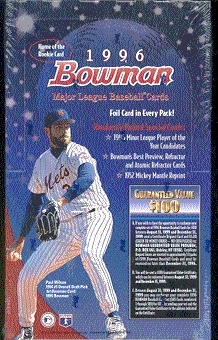 1996 Bowman Baseball Hobby Box