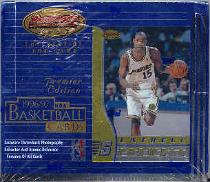 1996/97 Bowman's Best Basketball 20 Pack Box