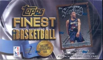 1996/97 Topps Finest Series 2 Basketball Hobby Box