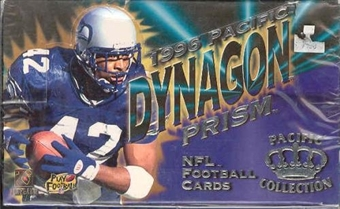 1996 Pacific Dynagon Prism Football Hobby Box