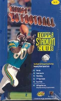 1996 Topps Stadium Club Series 2 Football Hobby Box