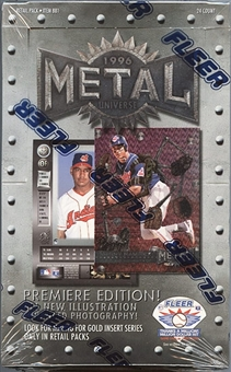 1996 Fleer Metal Baseball Retail Box