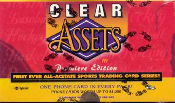 1996 Classic Clear Assets Multi-Sport Hobby Box