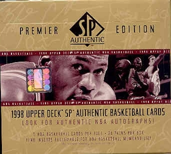 1997/98 Upper Deck SP Authentic Basketball Hobby Box (Unwrapped)
