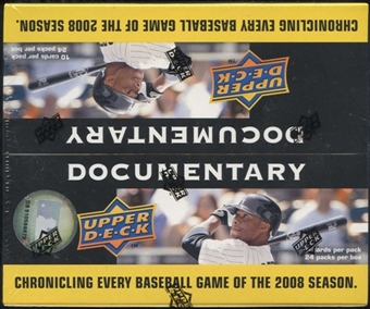 2008 Upper Deck Documentary Baseball 24-Pack Box
