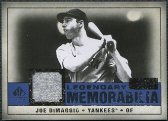 2008 SP Legendary Cuts Legendary Memorabilia Dark Blue Parallel #JD Joe DiMaggio /15