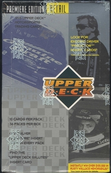 1995 Upper Deck Series 1 Racing Retail Box