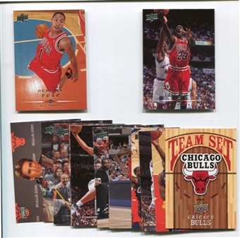 2008/09 Upper Deck Basketball Chicago Bulls Team Set w/ Derrick Rose RC