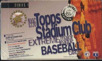 1996 Topps Stadium Club Series 1 Baseball Jumbo Box