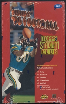 1996 Topps Stadium Club Series 2 Football 24-Pack Box