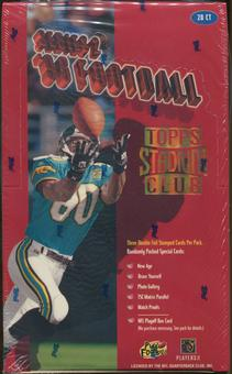1996 Topps Stadium Club Series 2 Football 20-Pack Box