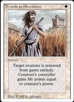 Magic the Gathering 3rd Ed (Revised) Single Swords to Plowshares LIGHT PLAY (NM)