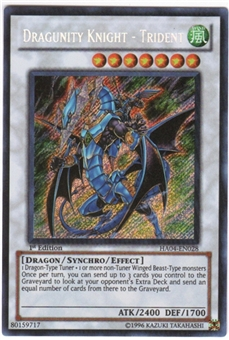 Yu-Gi-Oh Hidden Arsenal 4 Single Dragunity Knight - Trident Secret Rare