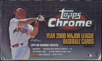 2000 Topps Chrome Series 1 Baseball 24-Pack Box