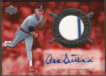 2005 Upper Deck Hall of Fame Baseball Don Sutton Jersey Auto #03/10