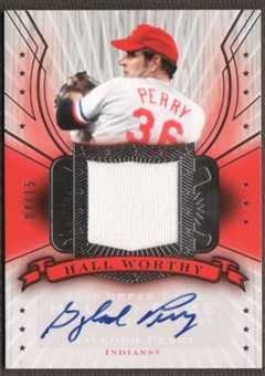2005 Upper Deck Hall of Fame Baseball Gaylord Perry Jersey Auto #04/15
