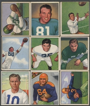 1950 Bowman Football Starter Set (112 Cards - 109 Different) (EX)