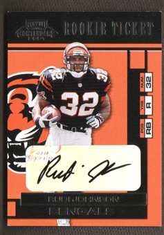 2001 Playoff Contenders Football Rudi Johnson Rookie Auto