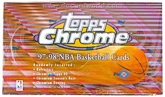 1997/98 Topps Chrome Basketball Hobby Box