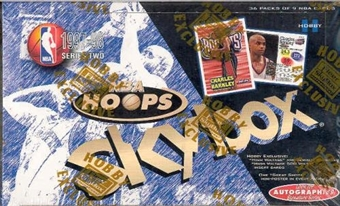 1997/98 Hoops Series 2 Basketball Hobby Box