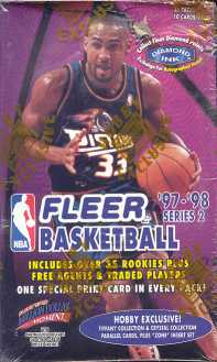 1997/98 Fleer Series 2 Basketball Hobby Box