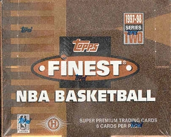 1997/98 Topps Finest Series 2 Basketball Hobby Box
