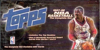 1997/98 Topps Basketball Factory Set (box)