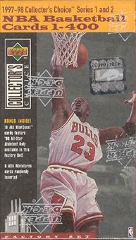 1997/98 Upper Deck Collector's Choice Basketball Factory Set (box)
