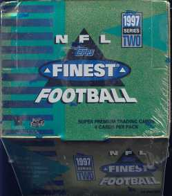 1997 Topps Finest Series 2 Football Jumbo Box