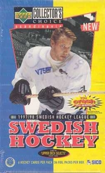 1997/98 Upper Deck Collector's Choice Swedish Hockey Hobby Box