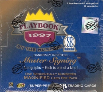 1997 Scoreboard Playbook By the Numbers Football Box