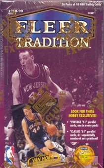 1998/99 Fleer Tradition Basketball Hobby Box
