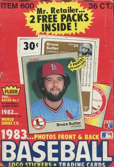 1983 Fleer Baseball Wax Box