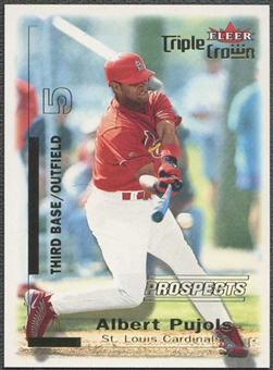 2001 Fleer Triple Crown Baseball Albert Pujols Rookie #1098/2999