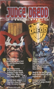 Judge Dredd The Epics Hobby Box (1995 Collector's Edge)