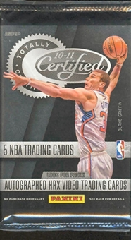 2010/11 Panini Totally Certified Basketball Hobby Pack