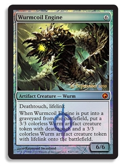 Magic the Gathering Scars of Mirrodin Single Wurmcoil Engine FOIL (Prerelease)