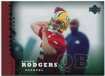 2005 Upper Deck #202 Aaron Rodgers Rookie Card RC