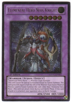 Yu-Gi-Oh Extreme Victory Single Elemental Hero Neos Knight Ultimate Rare - NEAR MINT (NM)