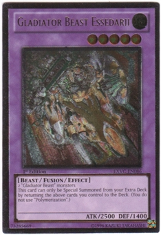 Yu-Gi-Oh Extreme Victory Single Gladiator Beast Essedarii Ultimate Rare
